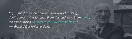 Richard Buckminster Fuller Quote: Tools Lead to New Way of Thinking